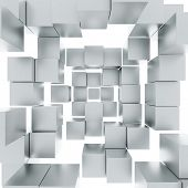 image of cube  - Abstract background with cubes - JPG