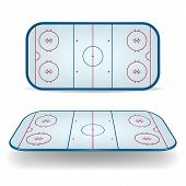 picture of hockey arena  - Set of ice hockey fields - JPG