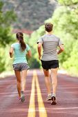 stock photo of fitness man body  - Runners running and jogging for health and fitness - JPG