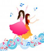 stock photo of praises  - Girl praise the lord with dance - JPG