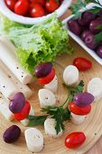 picture of canapes  - Canape of Heart of palm  - JPG