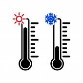 picture of fahrenheit thermometer  - The thermometer icon - JPG