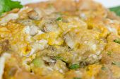 stock photo of southeast asian  - Southeast Asian Fried Baby Oyster Omelette on dish