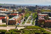 picture of armenia  - View of Yerevan from Cascade - JPG