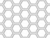 foto of hexagon pattern  - Design seamless monochrome hexagon geometric pattern - JPG