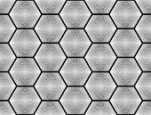 stock photo of hexagon pattern  - Design seamless monochrome hexagon geometric pattern - JPG