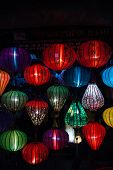 pic of eastern culture  - Night lanterns in old Hoi An town in Vietnam - JPG