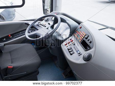 Detaisl of coach bus cabin