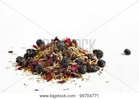 Blueberry Bliss Rooibos Tea.