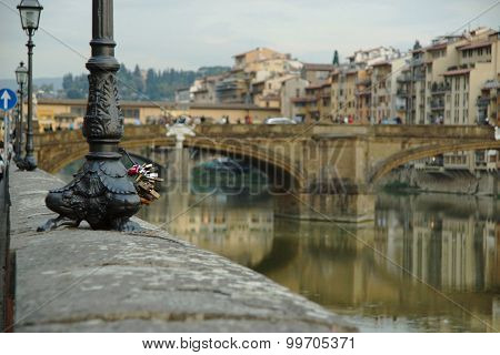 .the View Of The Embankment Of Florence.....