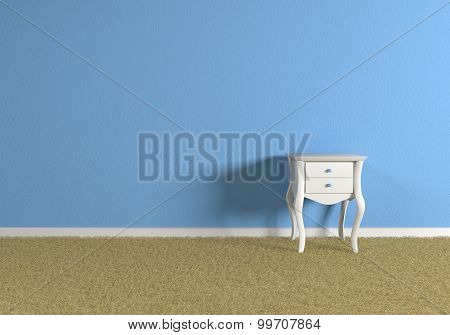 Empty Blue Room