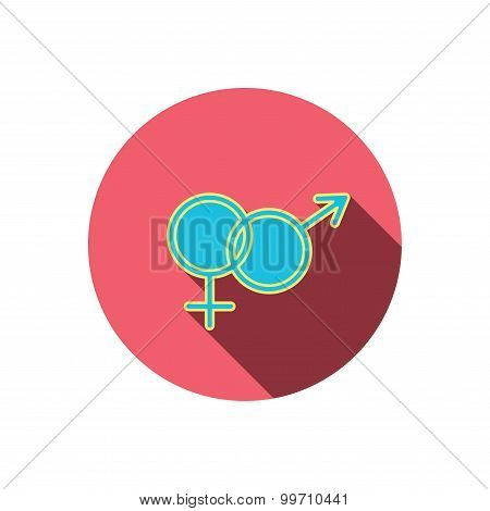 Male and female icon. Traditional sexuality sign