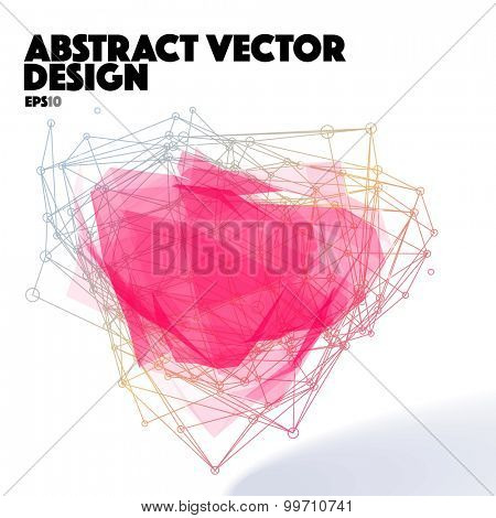 Abstract Vector Design Element. Connection Lines