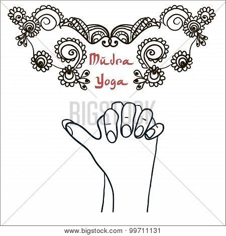 Element yoga Turtle mudra hands