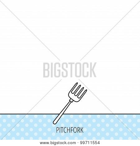 Pitchfork icon. Agriculture sign.