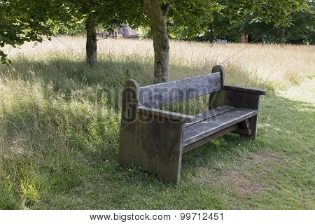Inviting park bench