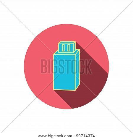 USB drive icon. Flash stick sign.