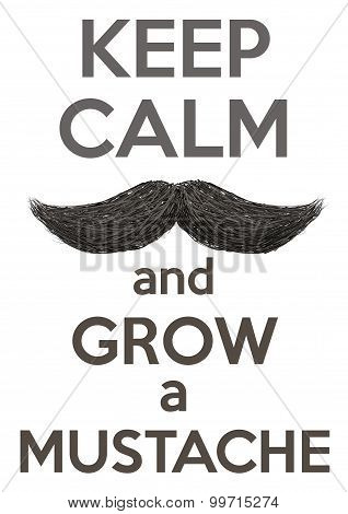 Keep Calm And Grow A Mustaches