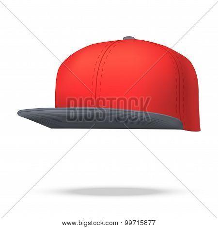 Layout Of Male Color Rap Cap.