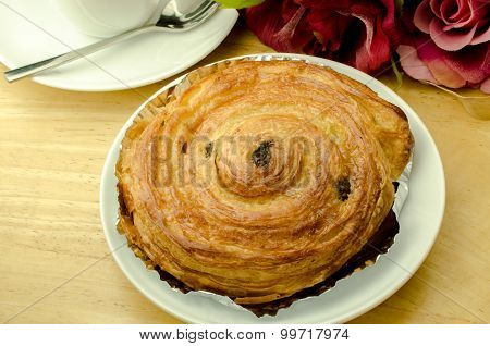 Delicious Danish pastry on the table