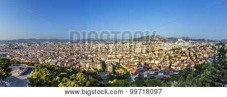View Of Marseille From Notre-dame De La Garde - France