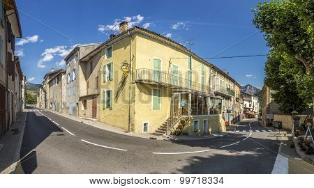 Small Village Of La Javie In France