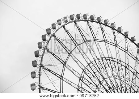 Ferris wheel in Black and White Tone