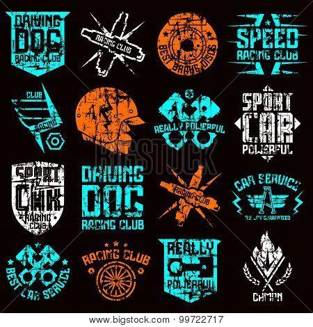 Car And Biker Culture Badges