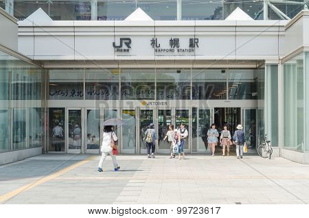 Sapporo Jr Train Station In Summer