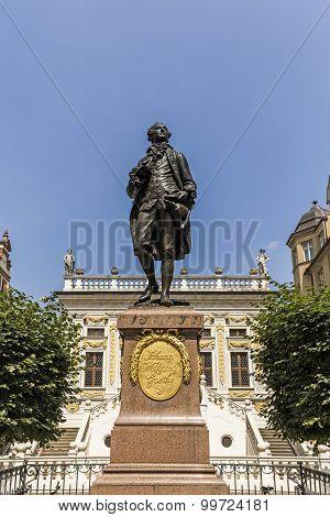 Statue Of Johann Wolfgang Goethe, Leipzig
