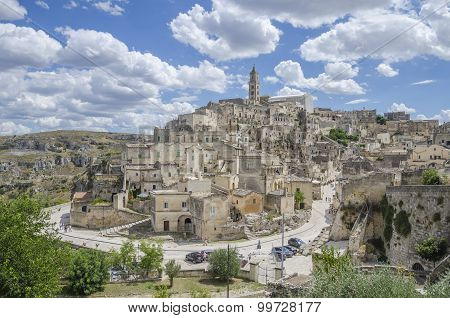Ancient town of Matera in Basilicata region, Italy