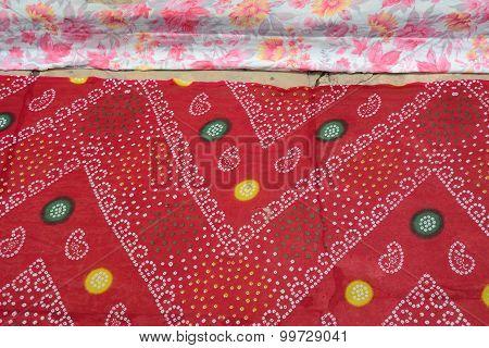 Red Indian Sari Background
