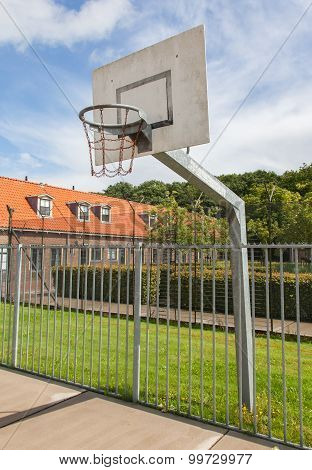 Basketball Court In An Old Jail
