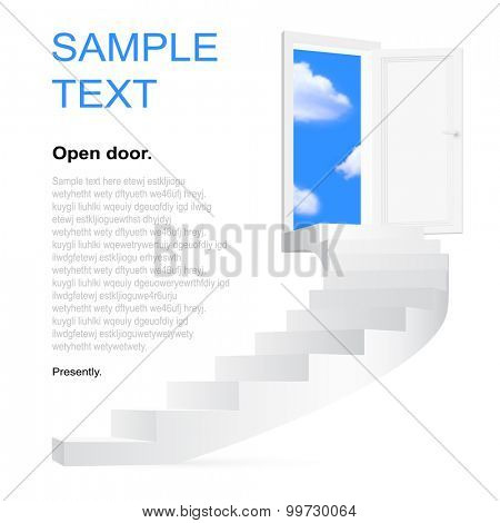 Stairway to heaven. Vector illustration with space for you text.