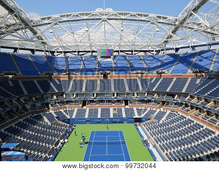 Newly Improved Arthur Ashe Stadium at the Billie Jean King National Tennis Center