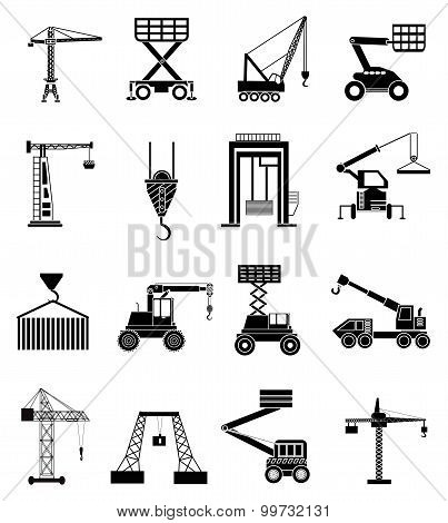 Heavy lifting icons set