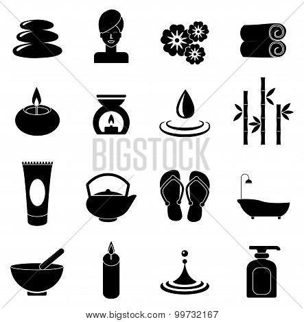 body Spa icons set
