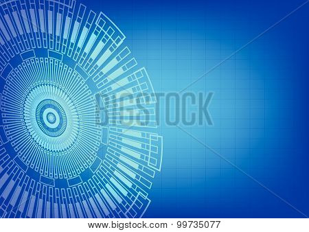 Vector illustration of gear ray tecnology background