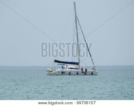 Yacht In The Haze.