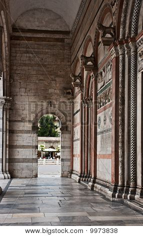 Portico of the Cathedral in Lucca
