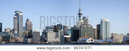 Panoramic view of Auckland city Skyline