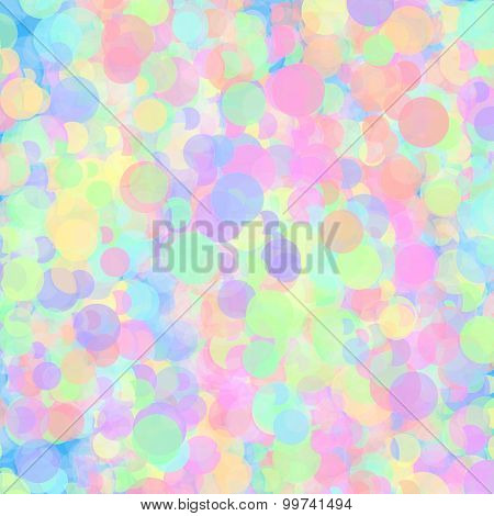 Background With Abstract Colorful Circles