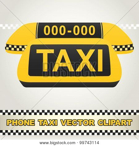 Taxi Phone Vector Clipart