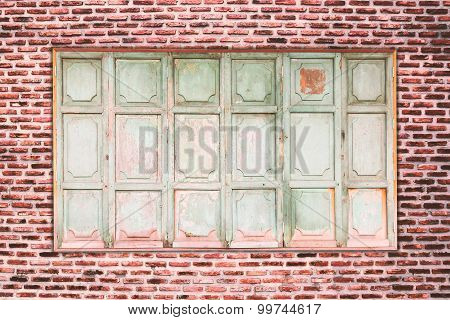 Old Brick And Old Window