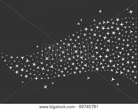 Vector black glittering sparkle background