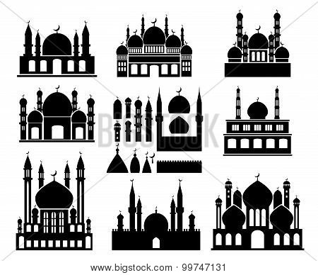 Islamic buildings silhouettes