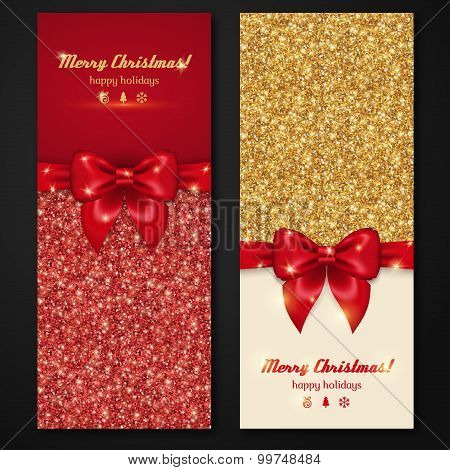 Vector Christmas and New Year Invitation Cards