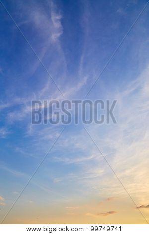 Cirrus Clouds In Sky