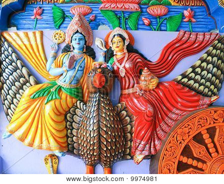Colorful idols of Hindu God & Goddess