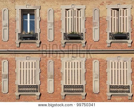 House Facade In Colmar